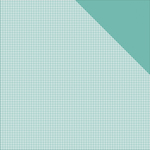 """Light Teal Check/Teal Solid - Authentique Micro Basics Double-Sided Cardstock 12""""X12"""""""