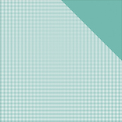"Light Teal Check/Teal Solid - Authentique Micro Basics Double-Sided Cardstock 12""X12"""