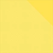 """Sunflower Yellow W/White Dots/Yellow - Authentique Micro Basics Double-Sided Cardstock 12""""X12"""""""