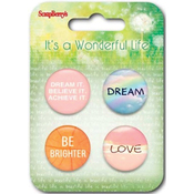 #1 - ScrapBerry's It's A Wonderful Life  Button Embellishments
