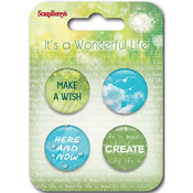 #4 - ScrapBerry's It's A Wonderful Life  Button Embellishments