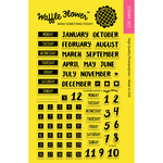 "Planner Dates - Waffle Flower Crafts Clear Stamps 4""X6"""