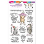 "Friend Wishes - Stampendous Perfectly Clear Stamps 4""X6"""