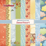 "12 Single-Sided Designs/2 Each - ScrapBerry's Sweetheart Paper Pack 6""X6"" 24/Pkg"