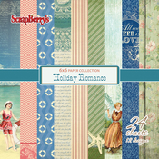 "12 Single-Sided Designs/2 Each - ScrapBerry's Holiday Romance Paper Pack 6""X6"" 24/Pkg"