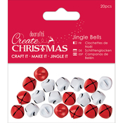 Red & White - Papermania Jingle Bells Matte Finish 20pcs