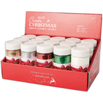 Traditional Christmas - Papermania Large Glitter Pots (250g) In Filled CDU 15pcs