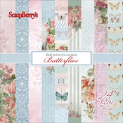 "12 Single-Sided Designs/2 Each - ScrapBerry's Butterflies Paper Pack 6""X6"" 24/Pkg"