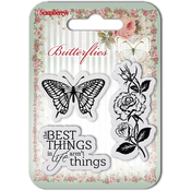 "The Best Things - ScrapBerry's Butterflies Clear Stamps 2.7""X2.7"""