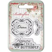 "Dream - ScrapBerry's Butterflies Clear Stamps 2.7""X2.7"""
