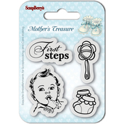 "First Steps - ScrapBerry's Mother's Treasure Clear Stamps 2.7""X2.7"""