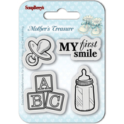 "First Smile - ScrapBerry's Mother's Treasure Clear Stamps 2.7""X2.7"""