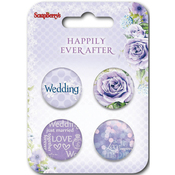 ScrapBerry's Happily Ever After  Button Embellishments -#2