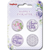 #3 - ScrapBerry's Happily Ever After  Button Embellishments