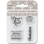 "Invitation - ScrapBerry's Clear Stamps 2.7""X2.7"""