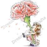 "Say Love With Flowers - DreamerlandCrafts Cling Stamp 4""X7"""