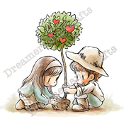"""Growing In Love - DreamerlandCrafts Cling Stamp 4""""X7"""""""