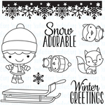 "Winter Wonderland Phoebe - Your Next Stamp Clear Stamps 4""X4"""