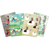 4 Designs/2 Each - Santoro Kori Kumi A5 Decoupage Pack 8/Sheets