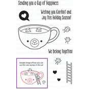 "Cup Of Happiness - Your Next Stamp Clear Stamps 3""X4"""