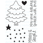 """Merry & Bright Tree - Your Next Stamp Clear Stamps 3""""X4"""""""