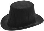 "Black - Stiffened Felt Top Hat 3.75"""