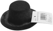 "Black - Stiffened Felt Top Hat 3"""