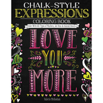 Chalk-Style Expressions Coloring Book - Design Originals