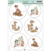 "Christmas Friends - Daisy Mae Draws Topper Sheet 8.5""X12.2"""