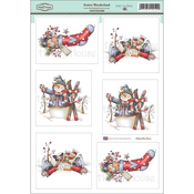 "Festive Wonderland - Daisy Mae Draws Topper Sheet 8.5""X12.2"""