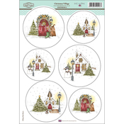 "Christmas Village - Daisy Mae Draws Topper Sheet 8.5""X12.2"""
