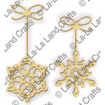 "Snowflake Ornaments, .875"" To 2"" - La-La Land Die"