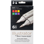 Basics - Spectrum Noir Illustrator Twin Tip Markers 6/Pkg