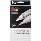 Basics - Spectrum Noir Illustrator Twin Tip Markers 6/Pkg