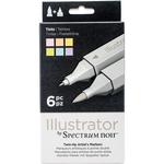 Tints - Spectrum Noir Illustrator Twin Tip Markers 6/Pkg