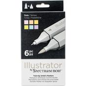 Tints - Spectrum Noir Illustrator Twin Tip Markers 6/Pkg