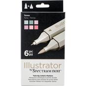 Tones - Spectrum Noir Illustrator Twin Tip Markers 6/Pkg