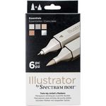 Essential - Spectrum Noir Illustrator Twin Tip Markers 6/Pkg