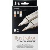 Essential - Spectrum Noir Illustrator Twin Tip Markers 6/Pkg