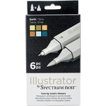 Earth - Spectrum Noir Illustrator Twin Tip Markers 6/Pkg
