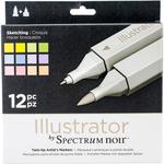 Sketching - Spectrum Noir Illustrator Twin Tip Markers 12/Pkg