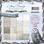 "Wintertide - Find It Trading Amy Design Paper Pack 6""X6"""