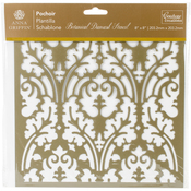 "Botanical Damask - Couture Creations Arabesque Stencil 8""X8"""