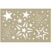 "Merry Stars Assortment - Couture Creations Be Merry Stencil 4""X6"""