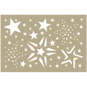 """Merry Stars Assortment - Couture Creations Be Merry Stencil 4""""X6"""""""