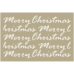 "Merry Christmas Script - Couture Creations Be Merry Stencil 4""X6"""