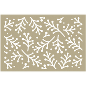 """Holly Berry Sprigs - Couture Creations Be Merry Stencil 4""""X6"""""""