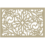"Christmas Damask - Couture Creations Be Merry Stencil 4""X6"""