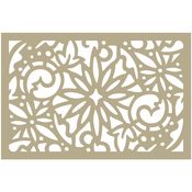 """Christmas Damask - Couture Creations Be Merry Stencil 4""""X6"""""""