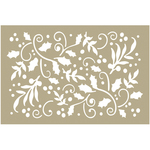 "Holly Flourishes - Couture Creations Be Merry Stencil 4""X6"""